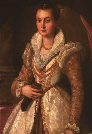 Santi di Tito (1536-1603) - Ritratto di gentildonna - Collezione privata