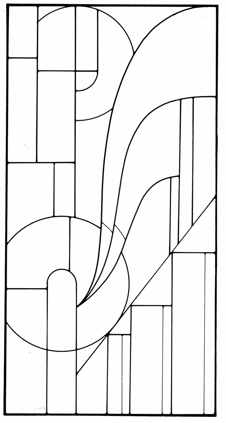 Art deco stained glass pattern glass mosaic quilt for Window design template