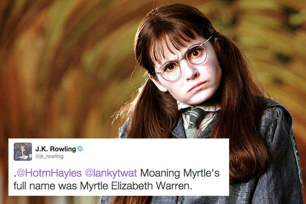 Moaning Myrtle's full name. | 19 Extremely Important Things J.K. Rowling Taught Us About Harry Potter