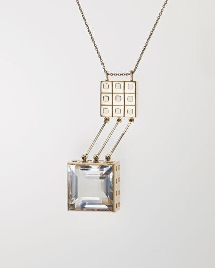 Paula Häiväoja for Kalevala Jewelry ~Precious metal, rock crystal #necklace, 1964. | Phillips.com