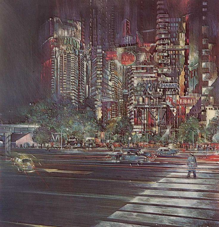 Condizione urbana 1969 Tempera e pastello su tela 100x120 cm