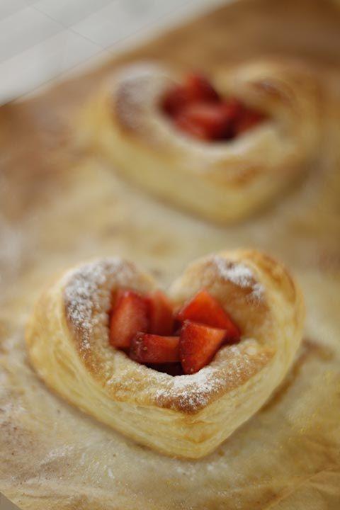 Tartaletas de fresas para San Valentín
