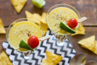 Maiscremesuppe mit Tortillachips