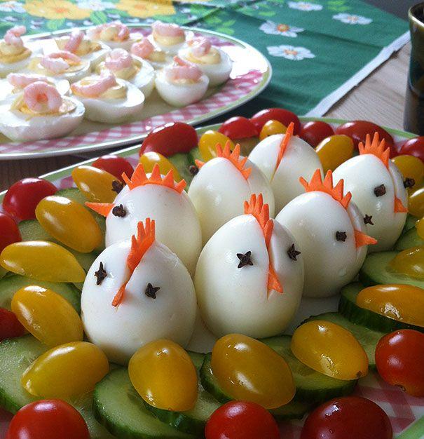 Osterkühlplatten dekorieren: 18 kreative Ideen   – Kochen