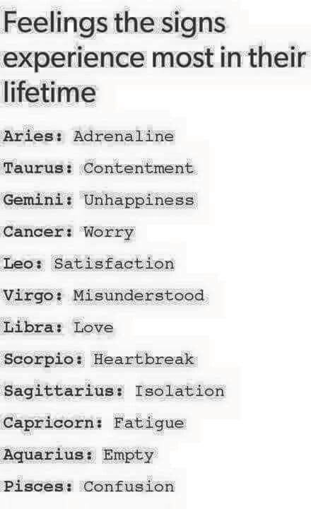 Leo, because we don't need anyone else o be satisfied! Sagittarius, clearly bring that ish on themselves!