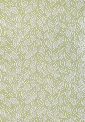 Leaves Absinthe with White Wallpaper by MissPrint. PEFC certified and printed in the UK