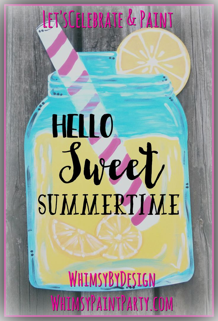 lemonade mason jar with pink straw door hanger  purchase