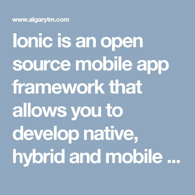 Ionic is an open source mobile app framework that allows you to develop native, hybrid and mobile web apps quickly and easily. Optimized for AngularJS, Ionic offers mobile optimized HTML5, JS and CSS tools and components for developing highly interactive, simple mobile web apps.
