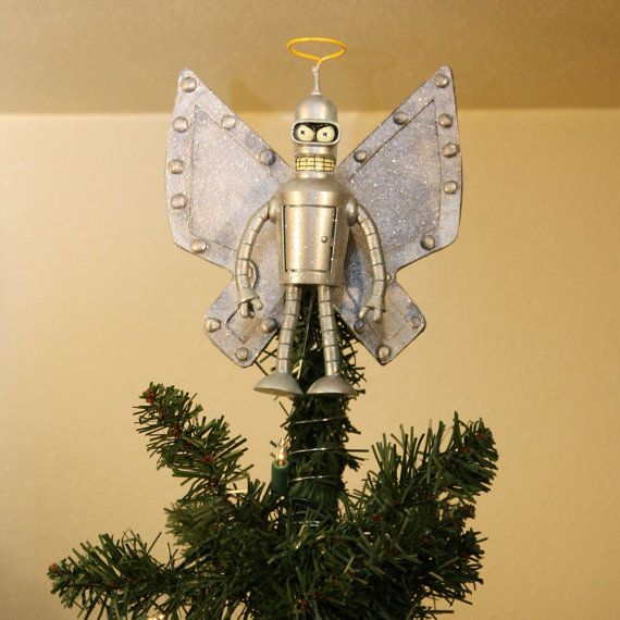 Futurama Bender Xmas Tree Topper by matbot on Etsy