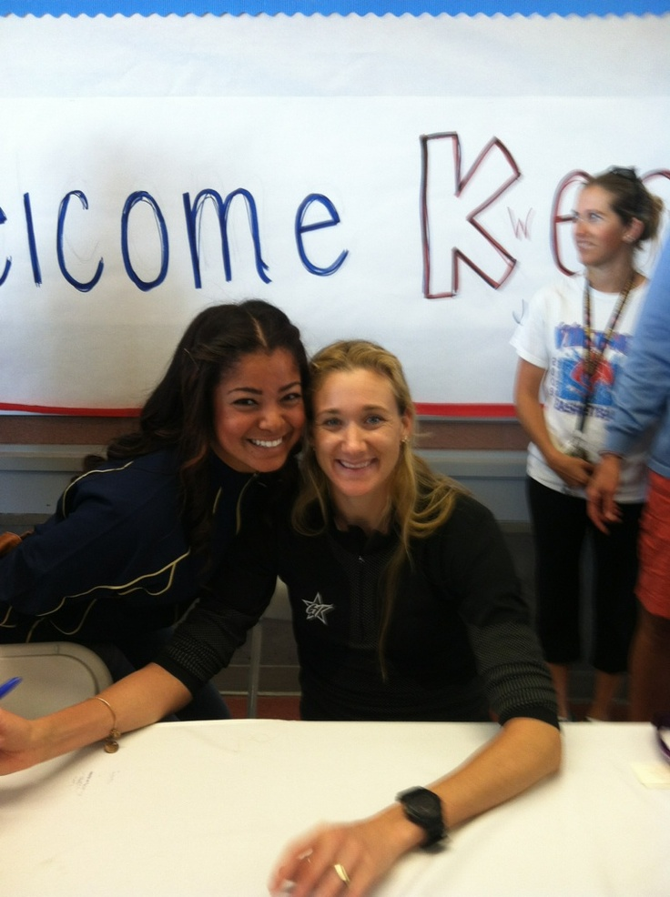 My babygirl with Olympian Kerri Walsh Jennings !!