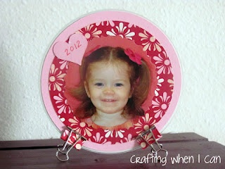 Upcycled CD into Pic Frame - so cute and green!
