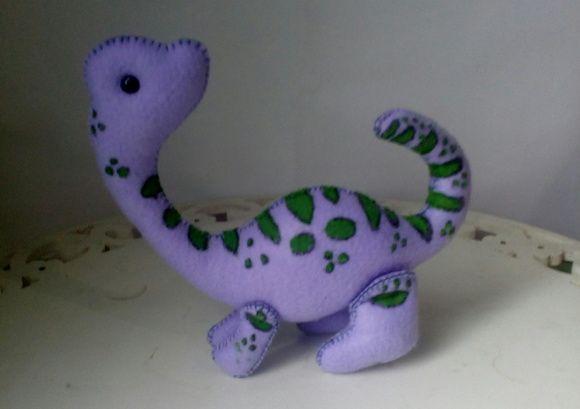 Dinossauro de feltro- Braquiossauro