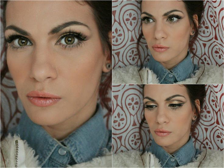 gold cut crease make-up