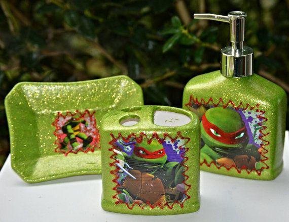 Check Out This Item In My Etsy Shop Https://www.etsy. Ninja Turtle  RoomNinja TurtlesBathroom SetsBedroom ...