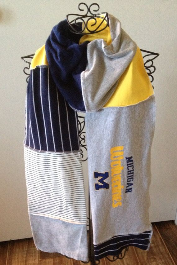 Michigan Wolverines Scarf UpCycled TShirt U by SewWonderfullyJamie, $25.00 upcycled scarf