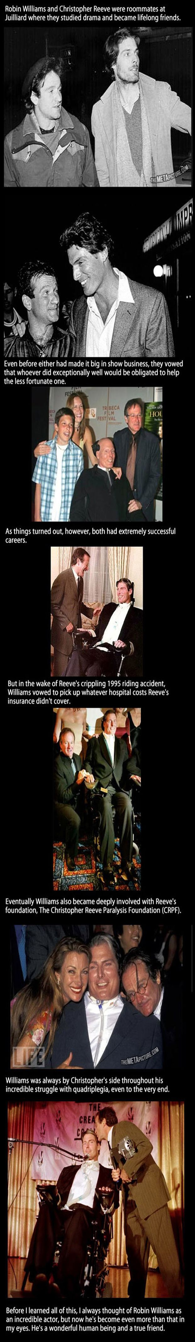 Robin Williams and Christopher Reeves.True friendship <3