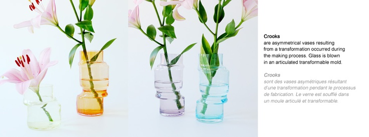 Crooks vases by Marion Fortat