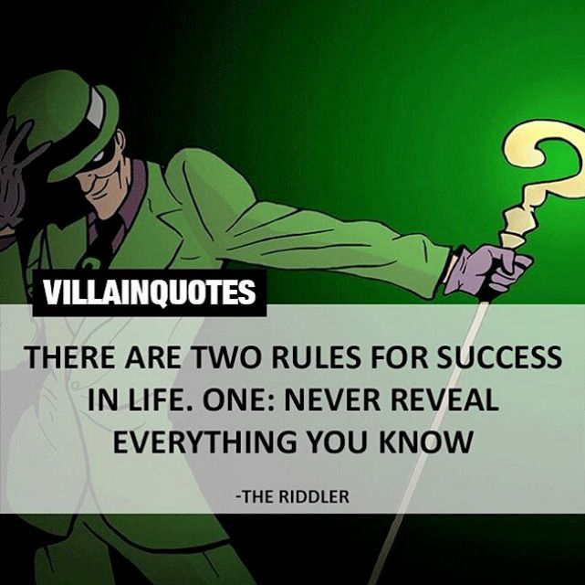 riddler rules quote                                                                                                                                                                                 More