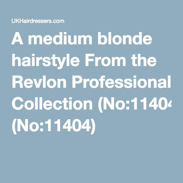 A medium blonde hairstyle From the Revlon Professional Collection (No:11404)