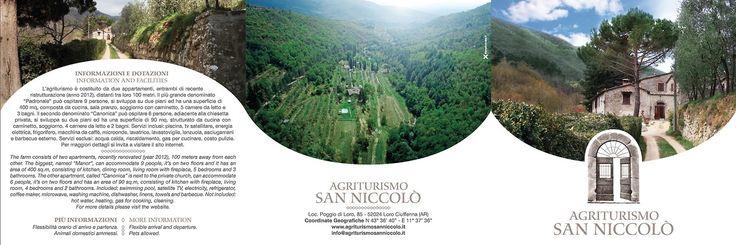 brochure Agriturismo San Niccolò