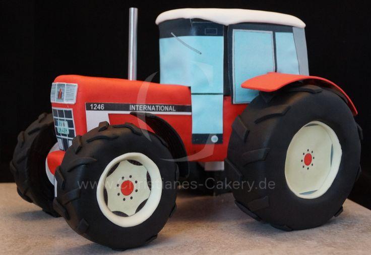 Traktortorte, Torte, Traktor, Motivtorte, IHC 1246