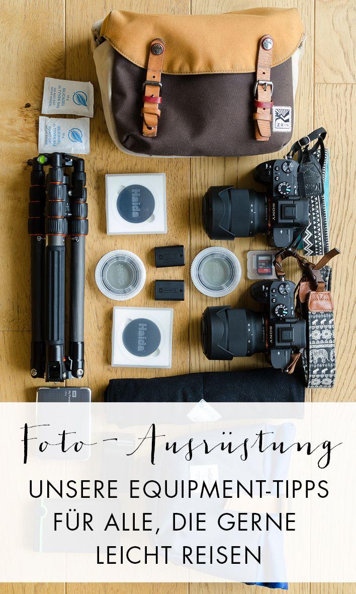 Das richtige Fotoequipment für die Reise zu finden ist nicht so einfach. Wir zeigen dir, mit welchem Kameras und welcher Ausrüstung wir reisen.