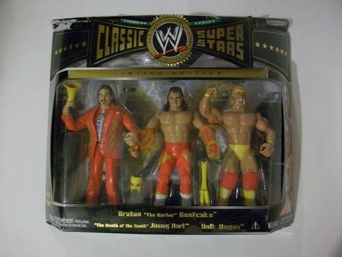 WWE CLASSIC SUPERSTARS 3-PAK HULK HOGAN,BEEFCAKE, JIMMY HART