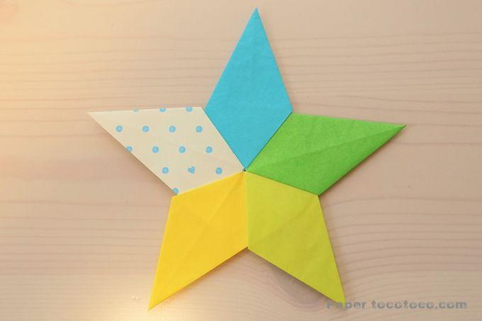 子供 折り紙 星 簡単