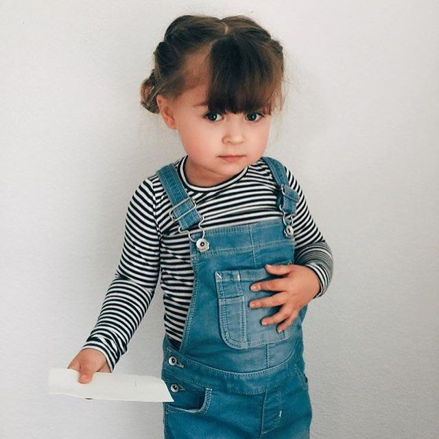 Our stripe shirt (last season) and baby overalls gah! Thanks for sharing @simplypaisley #ewmccall #handmade #shopsmall