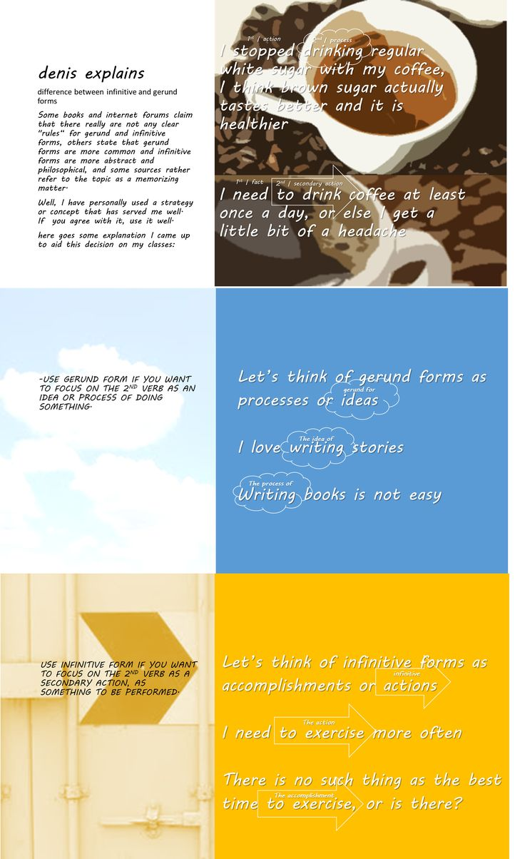 81 best Gerund and Infinitive images on Pinterest | English ...