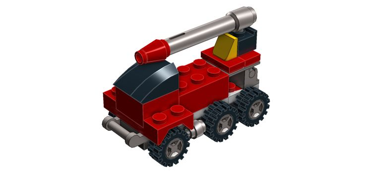 Watch my 1 minute MOC build of a LEGO fire engine! #LEGO #LEGODigitalDesigner #LDD #LEGOMoc