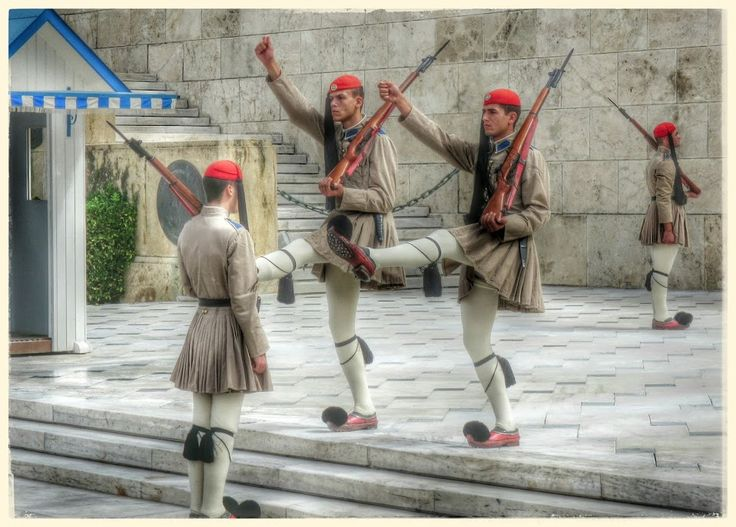 (Evzones in Athens / proud to be Greek!)
