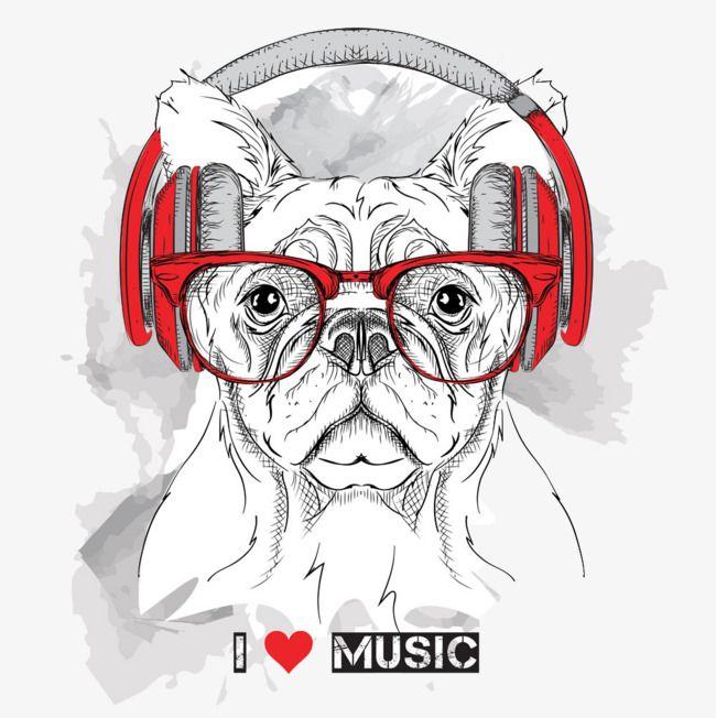 A Musica Do Celular Buldogue Clipart Musica Clipart Imagem Png E Psd Para Download Gratuito Vector Animals Dog Illustration Dog Png