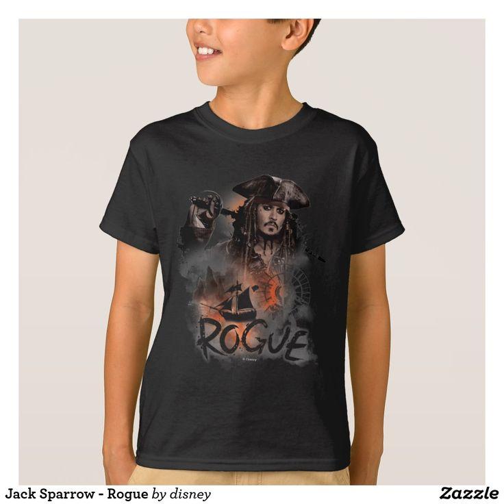 Jack Sparrow - Rogue. Producto disponible en tienda Zazzle. Vestuario, moda. Product available in Zazzle store. Fashion wardrobe. Regalos, Gifts. Trendy tshirt. #camiseta #tshirt