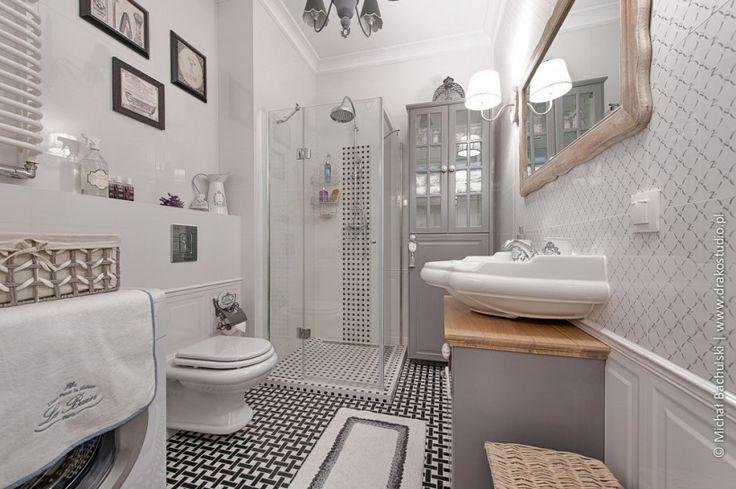 Szara łazienka w prowansalskim stylu - Lovingit.pl