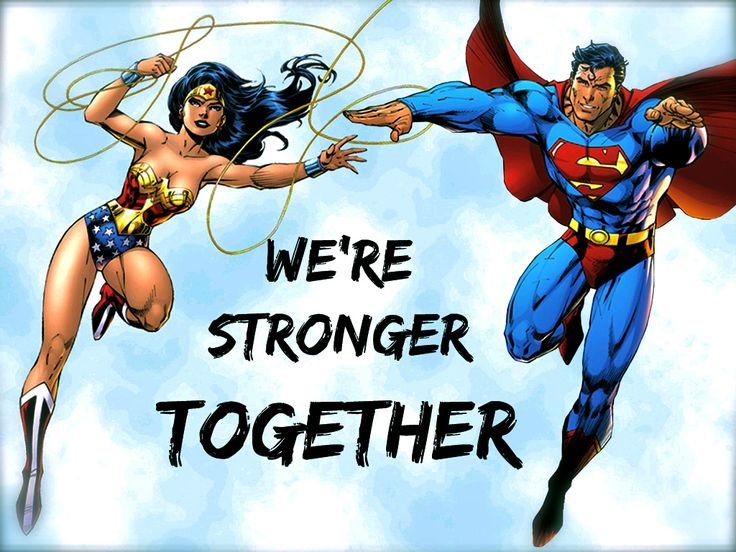 thepowerofawesome:  My edit for Superman and Wonderwoman! Picture:http://superkalel.com/wp-content/plugins/rss-poster/cache/f509a_ww.jpg Font: Edo SZ