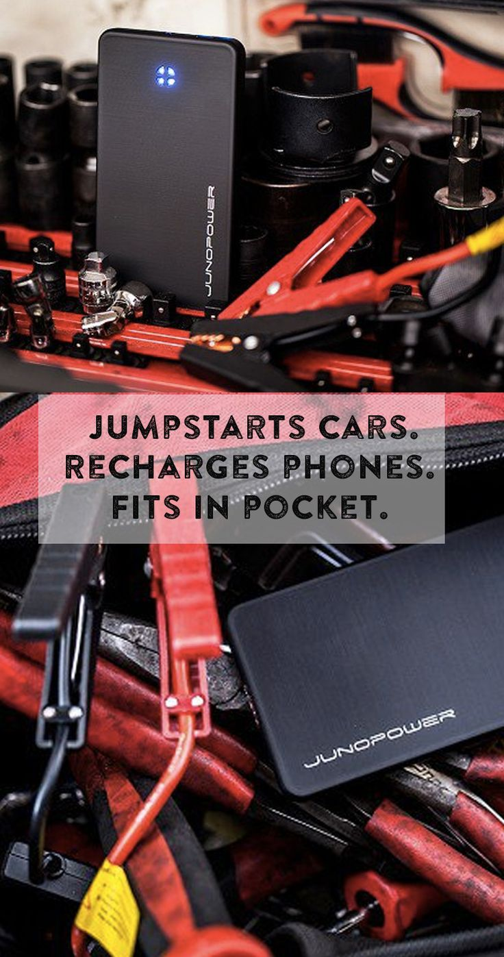 Cell phone-sized ultra-powerful battery pack. Recharge your cell, jumpstart your car. You'll always have power.