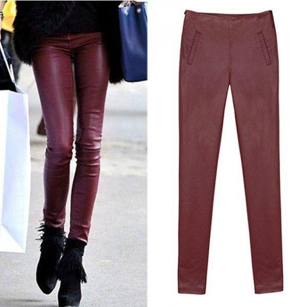 Большой ярдов плюс бархат пу кожаные штаны узкие джинсы стрейч ноги штаны карандаш брюки женские брюки сапоги брюки. q0152