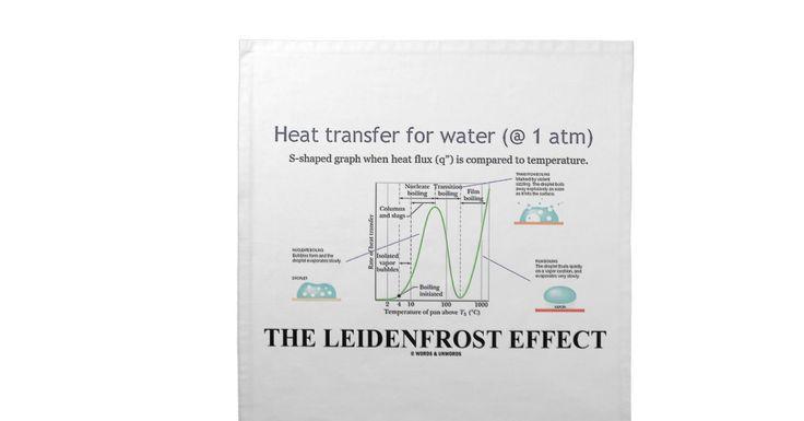 The Leidenfrost Effect (Chemistry Water) Printed Napkin #chemistry #organicchemistry #chemist #leidenfrosteffect #water #waterproperties #heattransfer #geek #attitude #wordsandunwords Here's a cloth napkin featuring the Leidenfrost Effect for any fan of the properties of water!