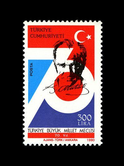 Turkey Mustafa Kemal Atatürk stamp, 1990
