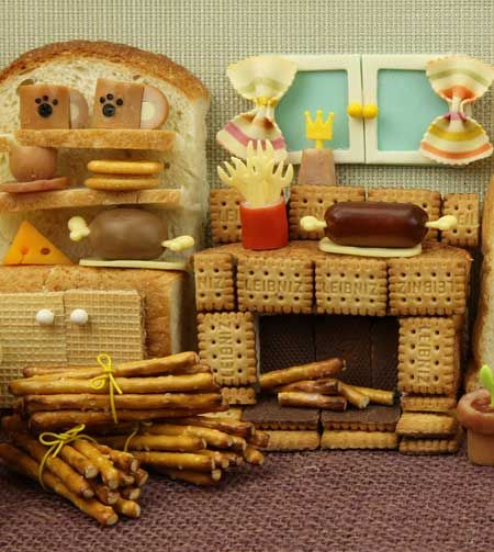 Ginger bread house interior