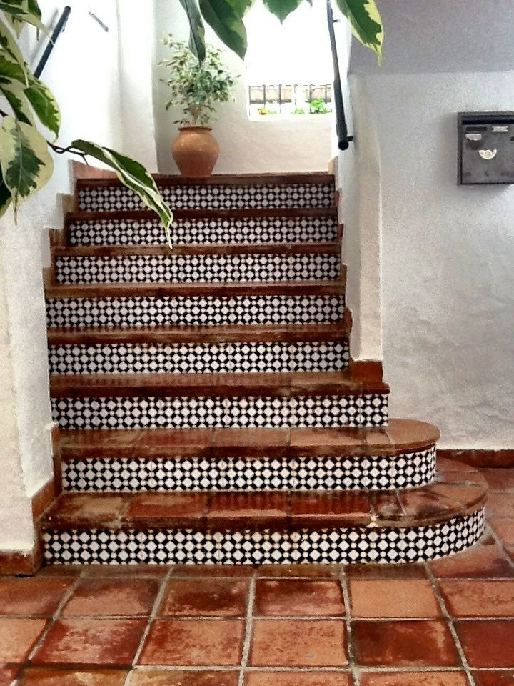 Beautiful staircase tiles.