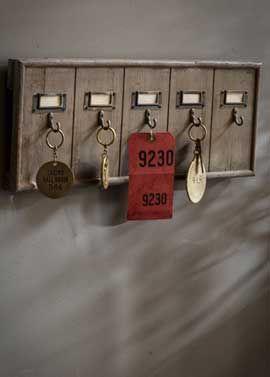 Recycled Wood Key Rack by Vagabond Vintage