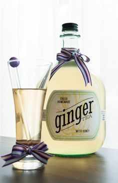 Ginger tea cures just about everything, including congestion! Find out how to make it (it's easy) and download printable labels for your bottles.