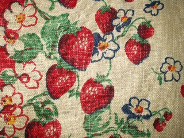 1940u0027s/50u0027s Strawberry Kitchen Towel Toweling Yardage