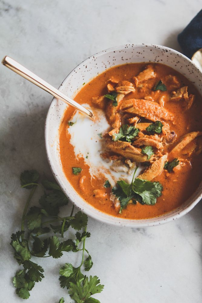 Inspired by the classic Indian dish, this soup's flavors are complex enough to be made for company, easy enough to be made for a crowd, and still manage to bring warmth and comfort to family dinners.