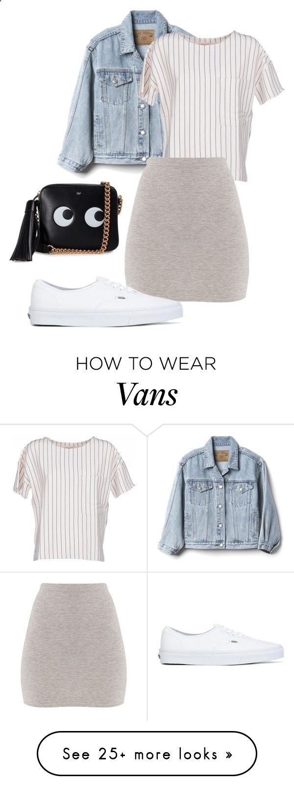 Basic  Cute ☀️ by ghuus15 on Polyvore featuring Gap, BELLEROSE, BasicGrey, Vans and Anya Hindmarch