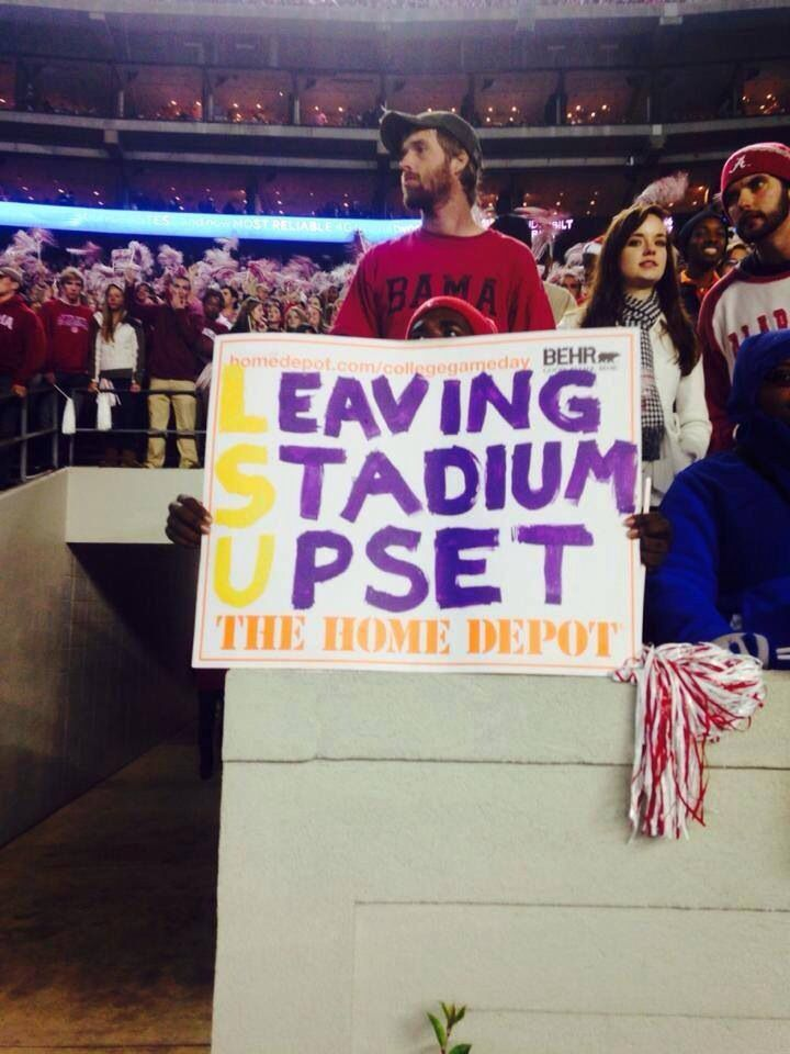 Bama beats LSU 2014  ~ Check this out too ~ RollTideWarEagle.com sports stories that inform and entertain and Train Deck to learn the rules of the game you love. #Collegefootball Let us know what you think. #Alabama #Bama