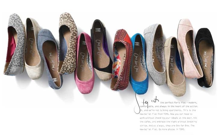 TOMS Ballet Flats!  Spring, 2012!