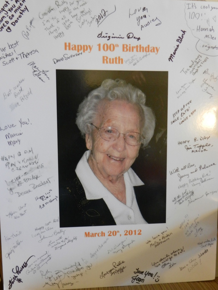 25 Best Images About 100th Birthday Party On Pinterest